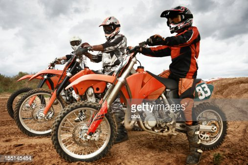 Motor bikers riding their machines