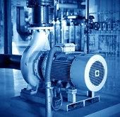 Thermal power plant workshop inside the motor