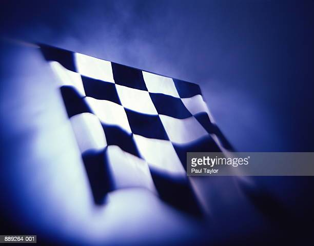 Motor racing chequered flag (blurred motion)