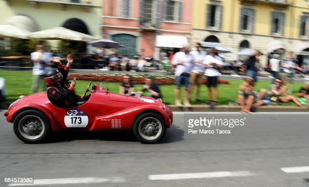 Motor RG1 750 sport made in 1948 on course during 1000 Miles Historic Road Race on May 18 2017 in Brescia Italy