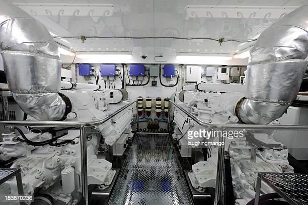 motor yacht engine room