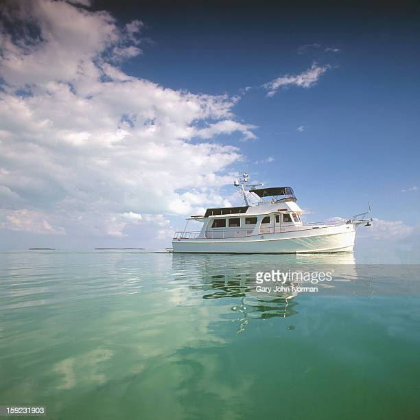 motor yacht in calm sea