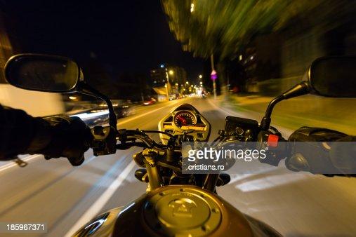 Motorbike Ride At Night