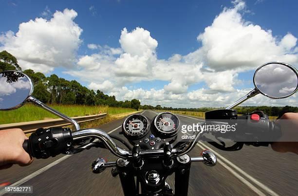 Pilote de moto équitation