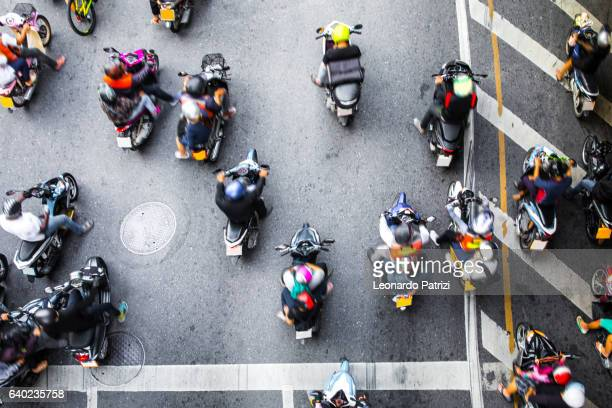 Motorbike traffic in Bangkok - Thailand