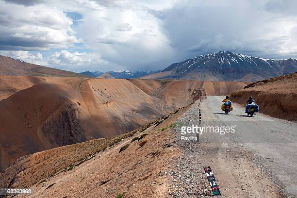 Motorbikers on Cloudy Day Plateau Mora India