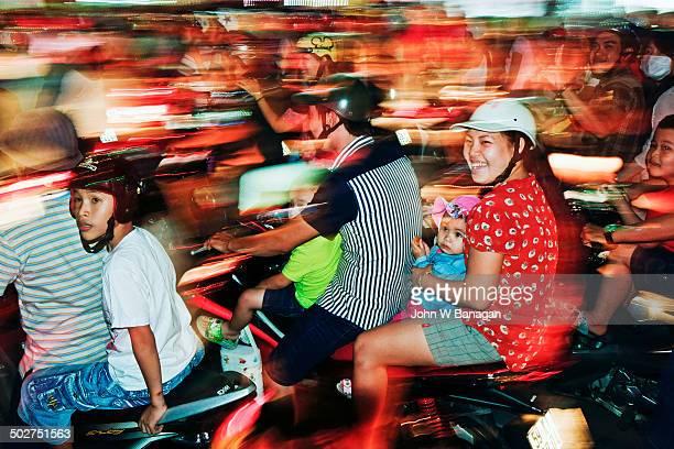 Motorbikes at Xmas, Saigon, HCM city