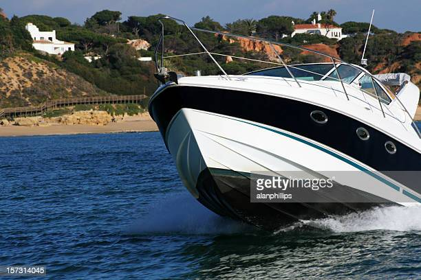 Motorboat approaching starboard