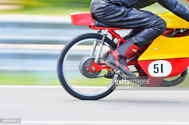 Motorcycle bike racing on a circuit