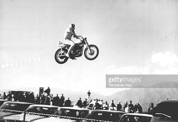 JUL 28 1972 JUL 29 1972 Motorcycle Daredevil Evel Knievel To Soar At CDR Evel Knievel who has gained national exposure for his plan to jump the Snake...