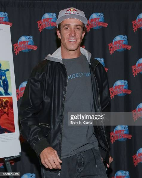 Motorcycle Daredevil Robbie Maddison promotes his starring role in the documentary film 'On Any Sunday The Next Chapter' at Planet Hollywood Times...