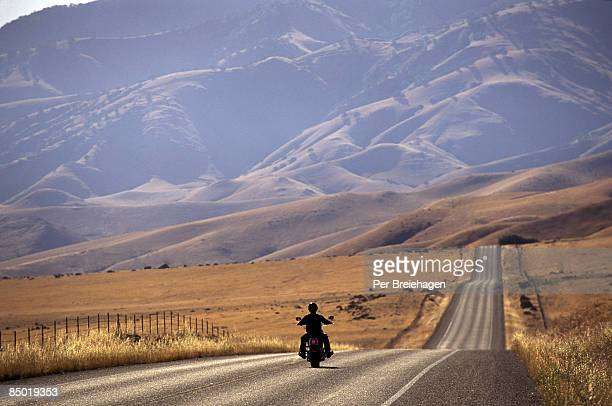 motorcycle heading down the road