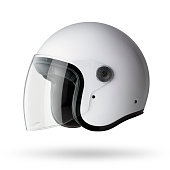 Motorcycle helmet on white background.