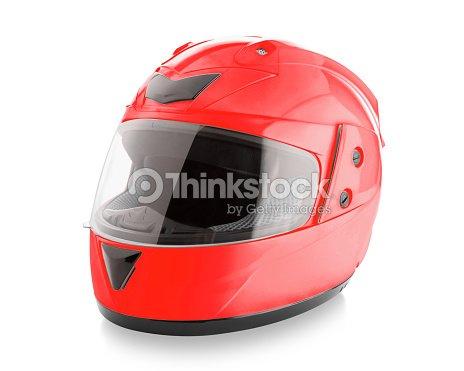 Motorcycle helmet over isolate on white : Stock Photo
