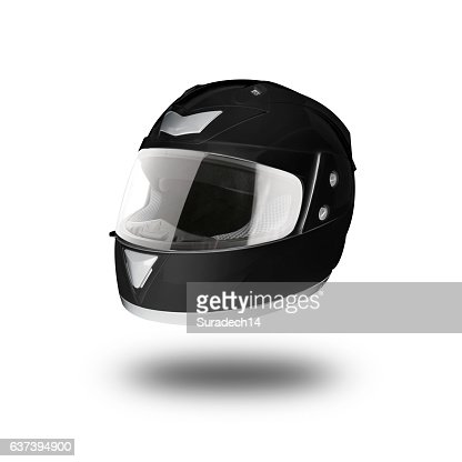 Motorcycle helmet over isolate on white with clipping path : Stock Photo