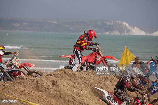 Motorcycle motocross dirt bike race
