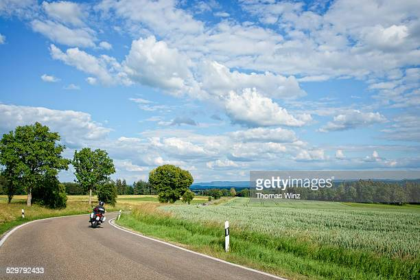 Motorcycle on a country road