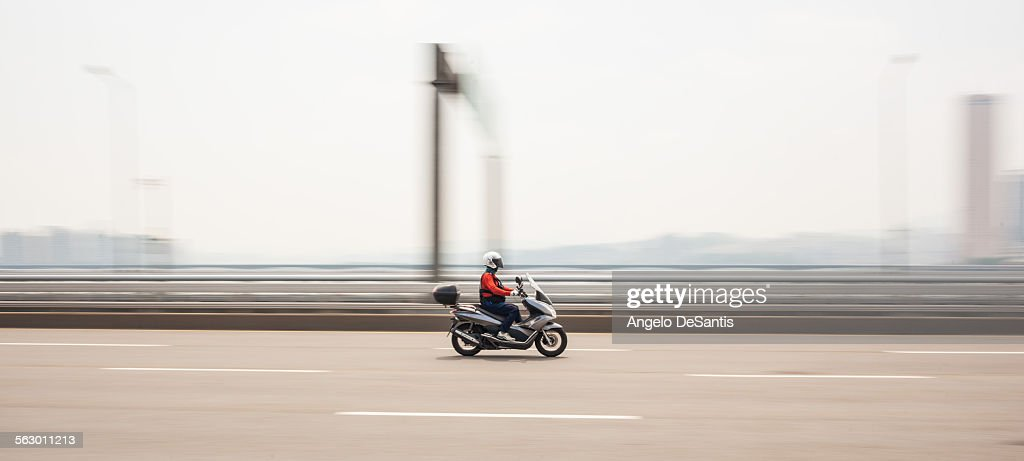 Motorcycle on the Mapo bridge