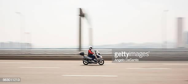 Motorcycle on the Mapo bridge