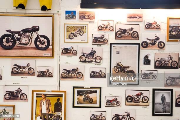 Motorcycle picture at Deus Ex Machina cafe, Camperdown.