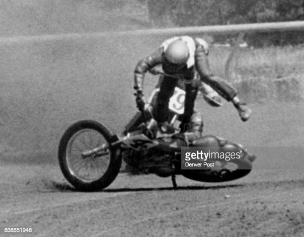 Motorcycle Racer Roger Crump Was Tossed From Cycle And Was Only Casualty Of Gold Cup Race Crump a roakie from Resaca Ga suffered shoulder injury...