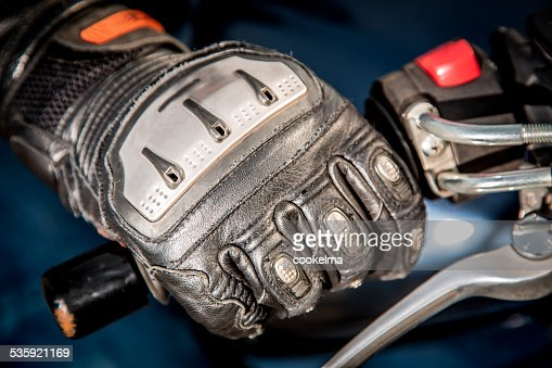 Motorcycle Racing Gloves : Stock Photo