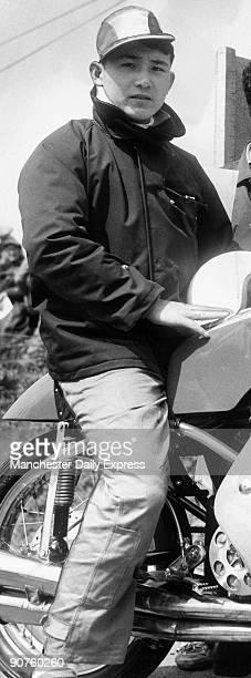 Motorcycle rider M Kitano of Japan June 1960