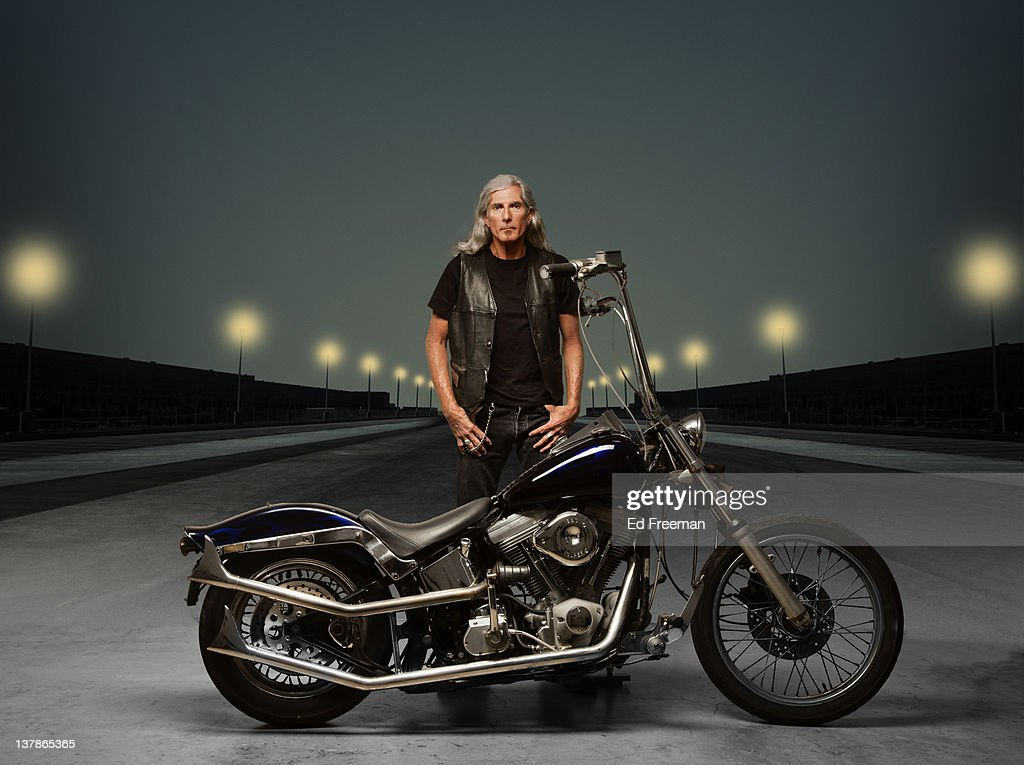 Motorcycle Rider with Night Background