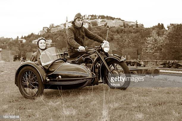 Motorcycle con 1935 estilo de Sidecar