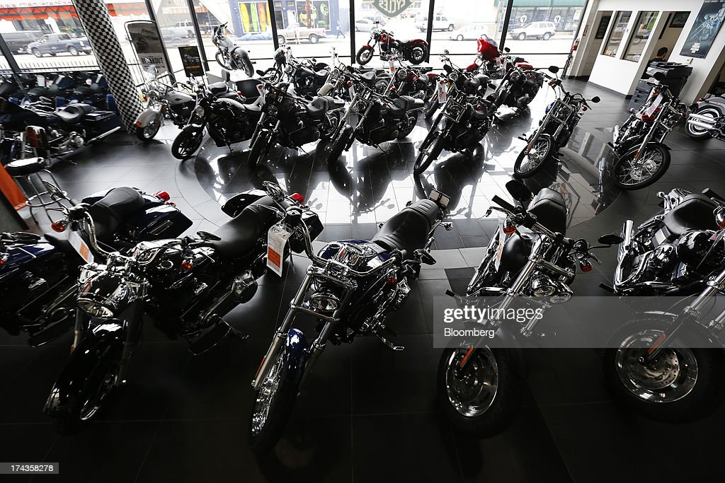 a harley davidson store ahead of earnings figures photos and