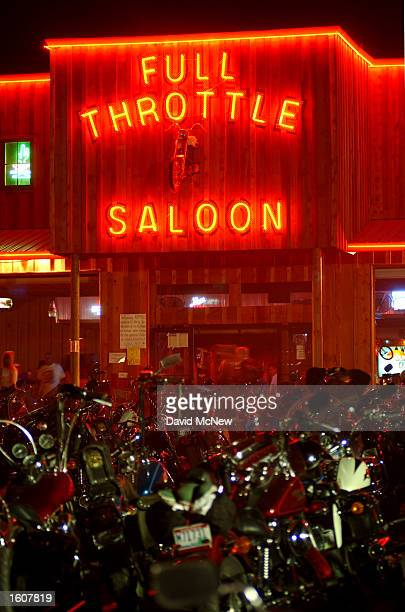 Motorcycles surround the Full Throttle Saloon which claims to be the world''s biggest biker bar during the 61st annual Sturgis Motorcycle Rally...