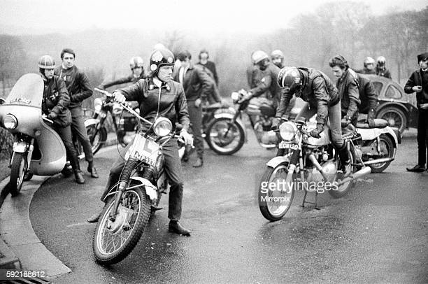 Motorcycles were parked as eighty youngsters solemnly flanked the half mile approach road to the crematorium to watch the cortege go by Then sadly...