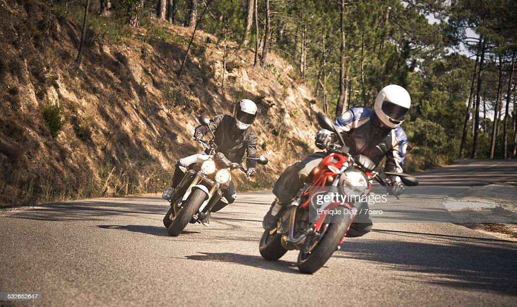 Motorcycling in forests around Cascais