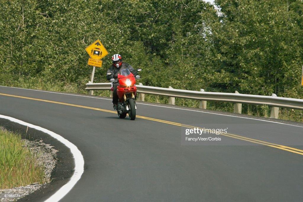 Motorcyclist : Stock Photo