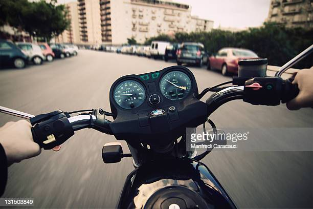 Motorcyclist while driving