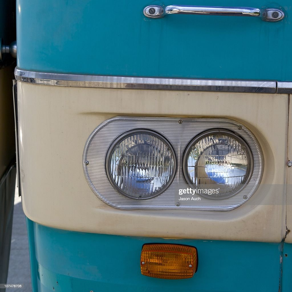 1964 motorhome headlights and turn signal : Stock Photo