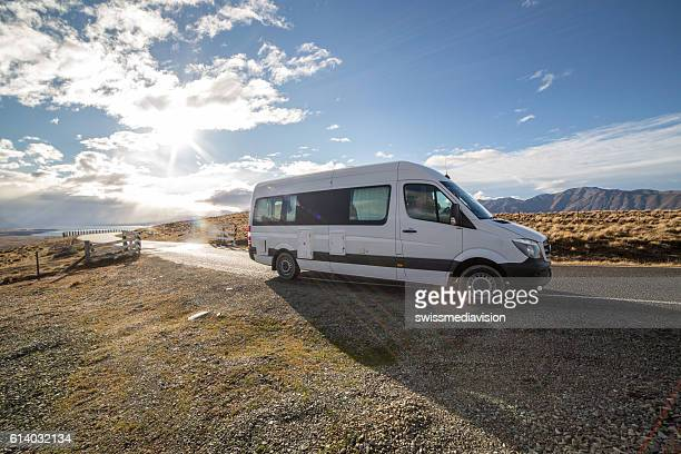 Motorhome on the road, New Zealand