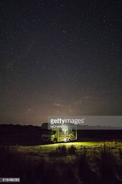 Motorhome under the stars