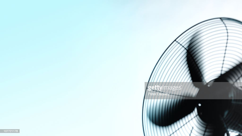 Motorised fan with copy space : Stock Photo