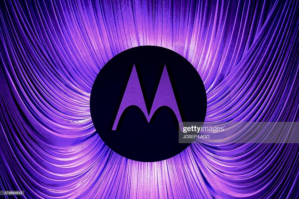 A Motorola logo is seen before a press conference by Motorola during the 2014 Mobile World Congress in Barcelona on February 25, 2014 The Mobile World Congress runs from the 24 to 27 February where participants and visitors alike can attend conferences, network, discover cutting-edge products and technologies at among the 1,700 exhibitors as well as seek industry opportunities and make deals.