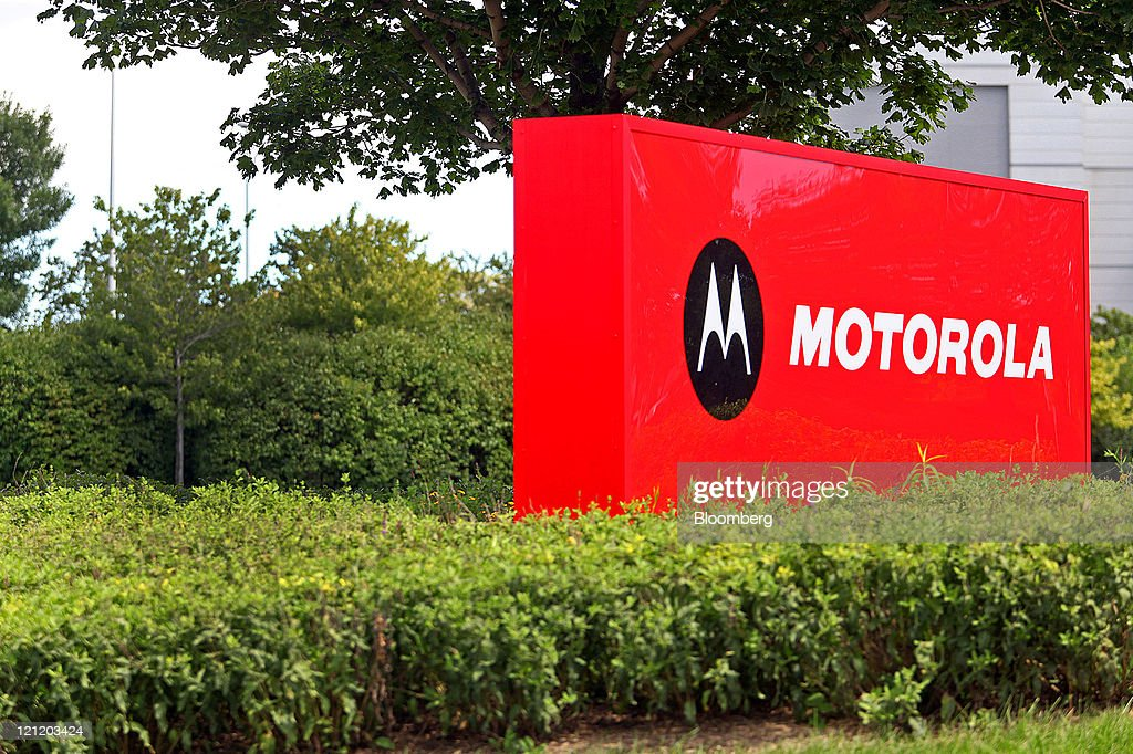 Motorola Mobility Holdings Inc. signage is displayed outside of the company's headquarters in Libertyville, Illinois, U.S., on Monday, Aug. 15, 2011. Google Inc., maker of the Android mobile-phone software, agreed to buy smartphone maker Motorola Mobility Holdings Inc. for $12.5 billion in its biggest deal, gaining mobile patents and expanding in the hardware business. Photographer: Tim Boyle/Bloomberg via Getty Images