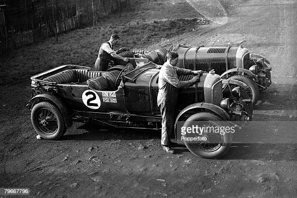 MotorSport 9th December Vintage Bentley cars being prepared to leave for Argentina where they will take part in an international speed tests on the...