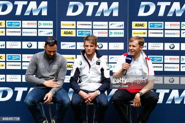 Motorsports / DTM 1 race Oschersleben Pressekonferenz #11 Gary Paffett #23 Marco Wittmann #7 Mattias Ekstroem