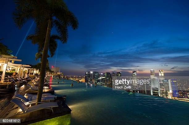 FIA Formula One World Championship 2013 Grand Prix of Singapore Marina Bay Sands Hotel Pool