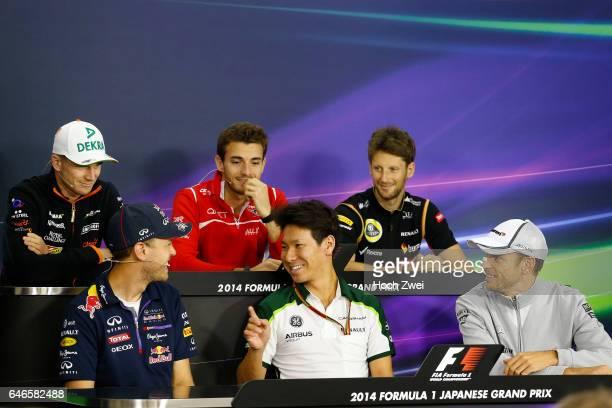 FIA Formula One World Championship 2014 Grand Prix of Japan #1 Sebastian Vettel #10 Kamui Kobayashi #22 Jenson Button #27 Nico Hulkenberg #17 Jules...