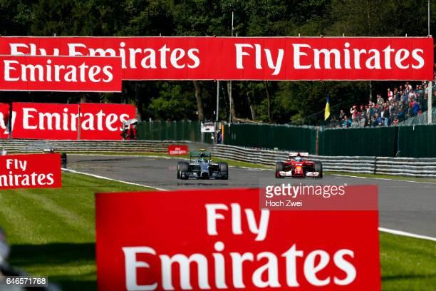 FIA Formula One World Championship 2014 Grand Prix of Belgium #14 Fernando Alonso #6 Nico Rosberg