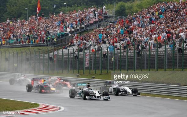 FIA Formula One World Championship 2014 Grand Prix of Hungary #6 Nico Rosberg #77 Valtteri Bottas #1 Sebastian Vettel #14 Fernando Alonso
