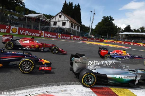 FIA Formula One World Championship 2014 Grand Prix of Belgium #6 Nico Rosberg #14 Fernando Alonso