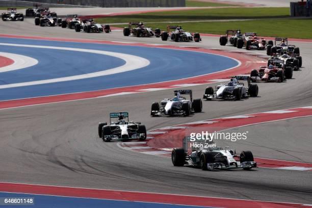 FIA Formula One World Championship 2014 Grand Prix of United States #6 Nico Rosberg #44 Lewis Hamilton #19 Felipe Massa #77 Valtteri Bottas #14...