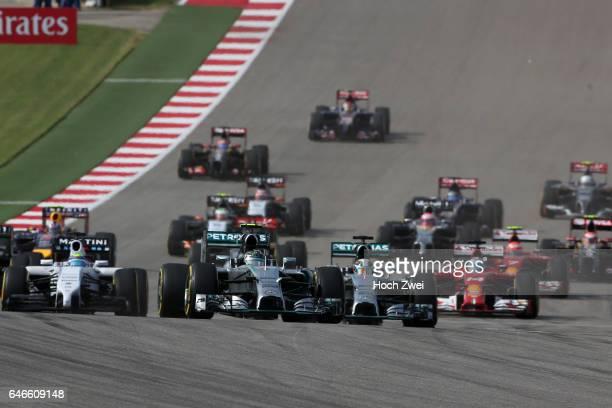 FIA Formula One World Championship 2014 Grand Prix of United States #6 Nico Rosberg #19 Felipe Massa #44 Lewis Hamilton #14 Fernando Alonso